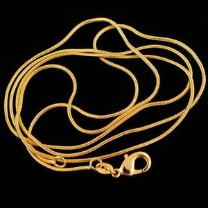 NWT 18K over Sterling Silver (Vermeil) Snake Chain